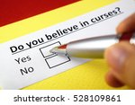 do you believe in curses  yes | Shutterstock . vector #528109861