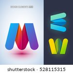 abstract letter m logo design... | Shutterstock .eps vector #528115315