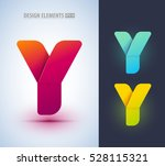 set of abstract letter y... | Shutterstock .eps vector #528115321