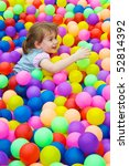 happy kid playing in the... | Shutterstock . vector #52814392