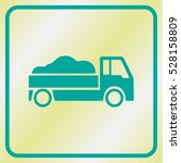 delivery truck icon on grey...