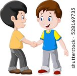 illustration of little boys... | Shutterstock .eps vector #528169735