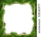 christmas frame made from... | Shutterstock .eps vector #528182977