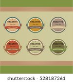 a collection of retro vector... | Shutterstock .eps vector #528187261