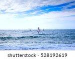 group of windsurfers on boards... | Shutterstock . vector #528192619