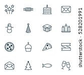 set of 16 happy new year icons. ... | Shutterstock .eps vector #528201991