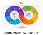 infographic template in the... | Shutterstock .eps vector #528204619