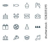 set of 16 celebration icons.... | Shutterstock .eps vector #528205195