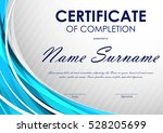 certificate of completion... | Shutterstock .eps vector #528205699