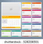 calendar 2017 print template... | Shutterstock .eps vector #528208501