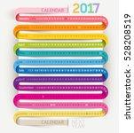 calendar 2017 print template... | Shutterstock .eps vector #528208519