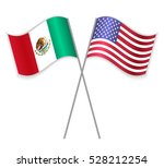 mexican and american crossed... | Shutterstock .eps vector #528212254