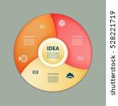 vector circle infographic.... | Shutterstock .eps vector #528221719