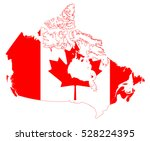 vector map of the canada | Shutterstock .eps vector #528224395