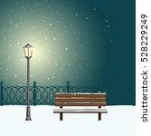 winter landscape in city park...   Shutterstock .eps vector #528229249