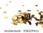 russian coins fall into a pile | Shutterstock . vector #528229411