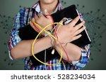 internet addict  | Shutterstock . vector #528234034