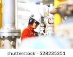 operator recording operation of ... | Shutterstock . vector #528235351