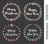 christmas labels and badges....   Shutterstock .eps vector #528244201