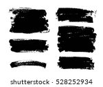 set of black paint  ink brush... | Shutterstock .eps vector #528252934