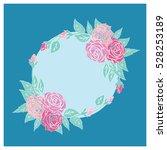 rose pastel frame | Shutterstock .eps vector #528253189