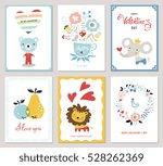 valentine's cards design... | Shutterstock .eps vector #528262369