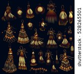 collection of vector tassels in ... | Shutterstock .eps vector #528265501