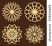 diy laser cutting patterns.... | Shutterstock .eps vector #528266605