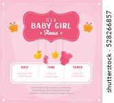 Baby Girl Shower Card....