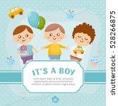 it's a boy card. invitation...   Shutterstock .eps vector #528266875