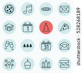 set of 16 christmas icons. can... | Shutterstock .eps vector #528268189