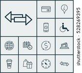 set of 12 transportation icons. ...