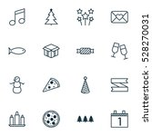 set of 16 holiday icons. can be ... | Shutterstock .eps vector #528270031
