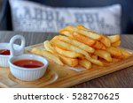 fried potatoes in the coffee...   Shutterstock . vector #528270625