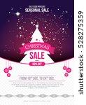 a4 size christmas sale flyer... | Shutterstock .eps vector #528275359