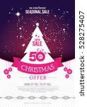 a4 size christmas offer flyer... | Shutterstock .eps vector #528275407