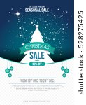 a4 size christmas sale flyer... | Shutterstock .eps vector #528275425
