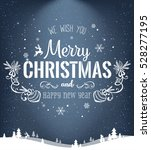 christmas and new year... | Shutterstock .eps vector #528277195