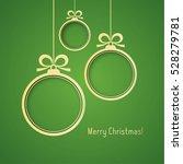 gold christmas frames  made of... | Shutterstock .eps vector #528279781