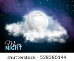 full moon against the... | Shutterstock .eps vector #528280144