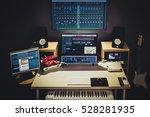 digital audio editing studio... | Shutterstock . vector #528281935