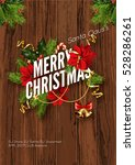 merry christmas party... | Shutterstock .eps vector #528286261