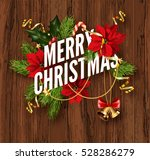 merry christmas greeting card... | Shutterstock .eps vector #528286279