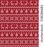 knitted christmas and new year... | Shutterstock .eps vector #528286681