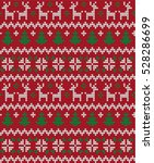 knitted christmas and new year... | Shutterstock .eps vector #528286699