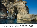blue lagoon and the high... | Shutterstock . vector #528291049