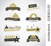 christmas banners and labels  ... | Shutterstock .eps vector #528301135