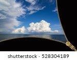 zipper opens the seascape | Shutterstock . vector #528304189