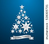 star shape christmas tree... | Shutterstock .eps vector #528305731