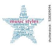 music styles. word cloud  five...   Shutterstock .eps vector #528309094